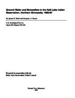 Ground Water and Streamflow in the Nett Lake Indian Reservation, Northern Minnesota, 1995-97