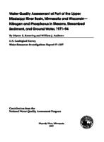 Water-Quality Assessment of Part of the Upper Mississippi River Basin, Minnesota and Wisconsin- Nitrogen and Phosphorus in Streams, Streambed Sediment, and Ground Water, 1971-94