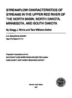 Streamflow Characteristic of Streams in the Upper Red River of the North Basin, North Dakota, Minnesota, and South Dakota