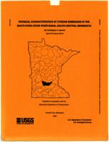 Physical Characteristics of Stream Subbasins in the South Fork Crow River Basin, South-Central Minnesota