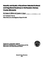 Quantity and Quality of Runoff from Selected Guttered and Unguttered Roadways in Northeastern Ramsey County, Minnesota