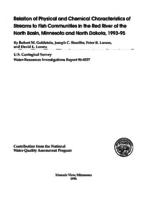 Relation of Physical and Chemical Characteristics of Streams to Fish Communities in the Red River of the North Basin, Minnesota and North Dakota, 1993-95