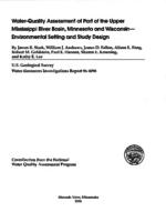 Water-Quality Assessment of Part of the Upper Mississippi River Basin, Minnesota and Wisconsin- Environmental Setting and Study Design