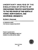 Uncertainly Analysis of the Simulations of Effects of Discharging Treated Wastewater to the Red River of the North at Fargo, North Dakota, and Moorhead, Minnesota