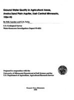Ground-Water Quality in Agricultural Areas, Anoka Sand Plain Aquifer, East-Central Minnesota, 1984-90