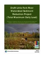 Draft Little Fork River Watershed Sediment Reduction Project (Total Maximum Daily Load)