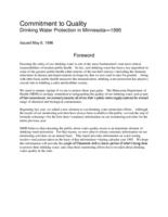 Commitment to Quality Drinking Water Protection in Minnesota—1995