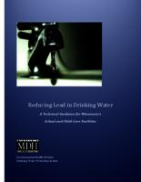 Reducing Lead in Drinking Water: A Technical Guidance for Minnesota's School and Child Care Facilities