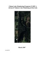 Citizen Lake-Monitoring Program (CLMP+): Advanced Volunteer Lake Monitoring on Boot Lake