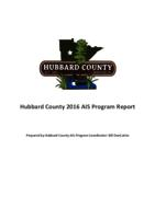 Hubbard County 2016 AIS Program Report