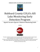 Hubbard County COLA's AIS Lake Monitoring Early Detection Program