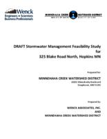DRAFT Stormwater Management Feasibility Study for 325 Blake Road North, Hopkins MN