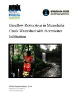 Baseflow Restoration in Minnehaha Creek Watershed with Stormwater Infiltration