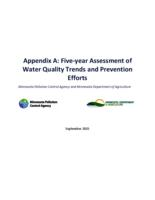 Appendix A: Five-year Assessment of Water Quality Trends and Prevention Efforts