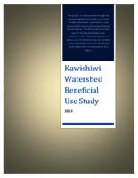 Kawishiwi Watershed Beneficial Use Study