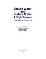 Ground Water and Surface Water A Single Resource