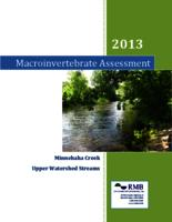 2013 Macroinvertebrate Assessment