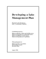 Developing a Lake Management Plan