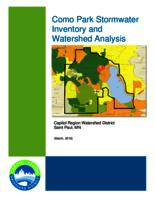 Como Park Stormwater Inventory and Watershed Analysis