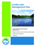 Crosby Lake Management Plan