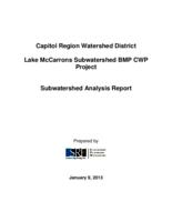 Lake McCarrons Subwatershed BMP CWP Project