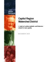 A study of resident attitudes and behaviors related to water quality