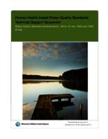 Human Health-based Water Quality Standards Technical Support Document