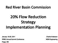 20% Flow Reduction Strategy Implementation Planning