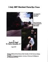 2 July 2007 Morehart Farm Dye Trace