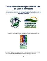 2009 Survey of Nitrogen Fertilizer Use on Corn in Minnesota: A companion report to the full report prepared by the University of Minnesota Extension