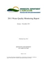 2011 Water Quality Monitoring Report