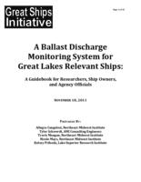A Ballast Discharge Monitoring System for Great Lakes Relevant Ships: A Guidebook for Researchers, Ship Owners, and Agency Officials