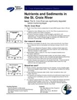 Nutrients and Sediments in the St. Croix River [St. Croix Watershed Research Station]