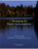 Managing for Water Sustainability