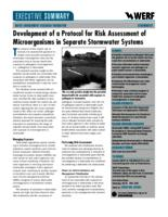 Development of a Protocol for Risk Assessment of Microorganisms in Separate Stormwater Systems