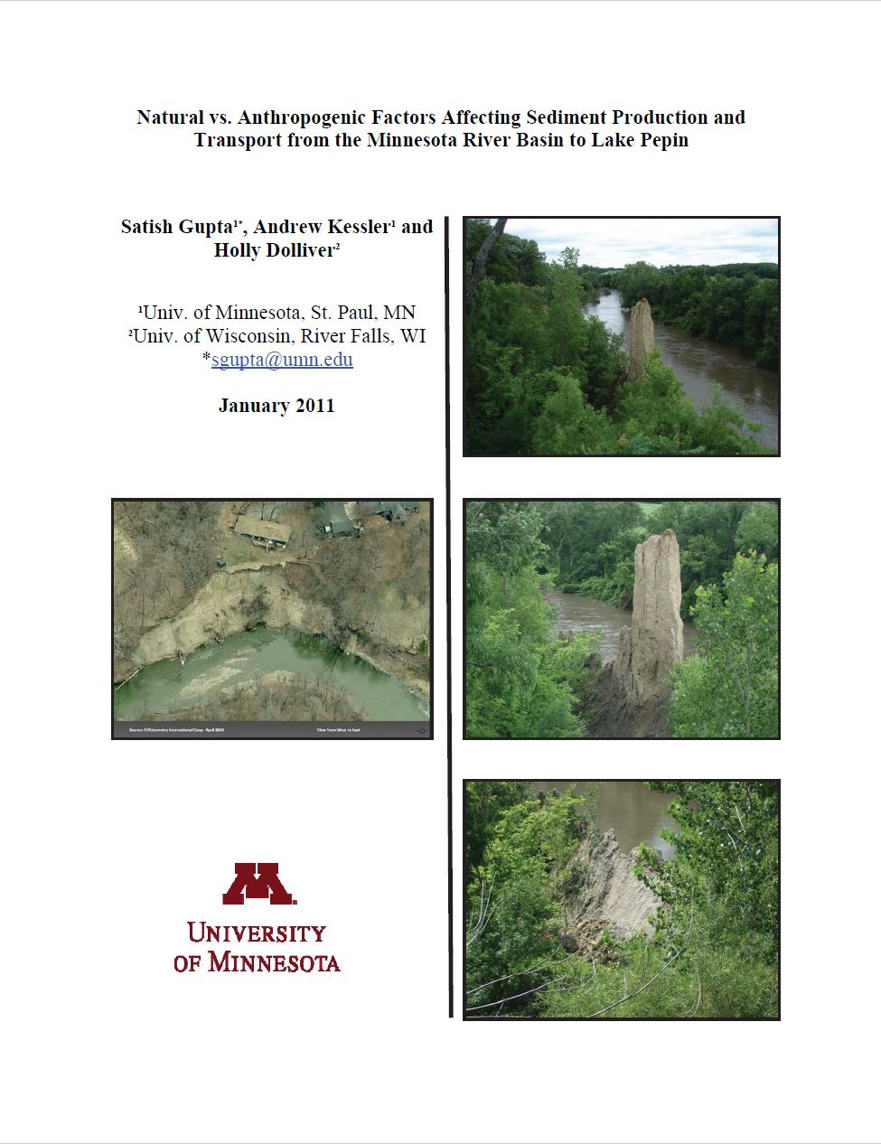 Natural vs. Anthropogenic Factors Affecting Sediment Production and Transport from the Minnesota River Basin to Lake Pepin