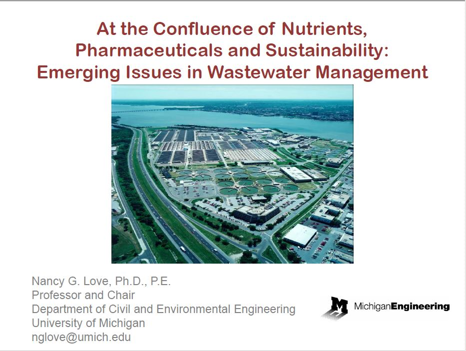 At the Confluence of Nutrients, Pharmaceuticals and Sustainability: Emerging Issues in Wastewater Management