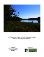 2009 Carnelian Marine St. Croix Watershed District WATER MONITORING REPORT