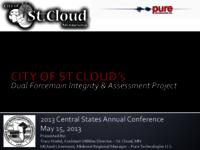 City of St Cloud's Dual Forcemain Integrity & Assessment Project [Presnetation]