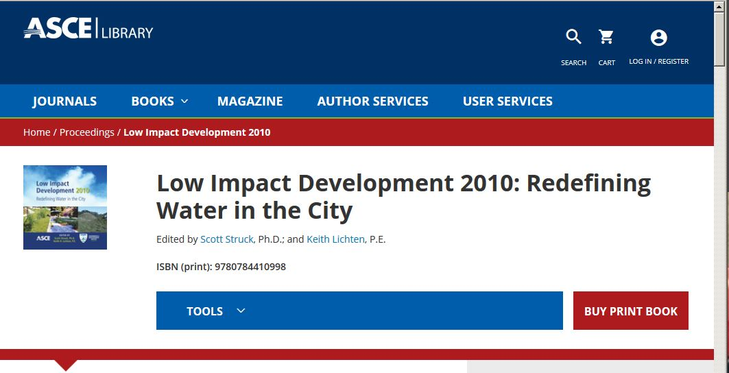 Low Impact Development 2010: Redefining Water in the City