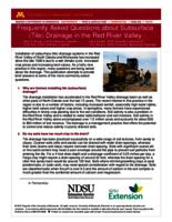 Frequently Asked Questions about Subsurface (Tile) Drainage in the Red River Valley
