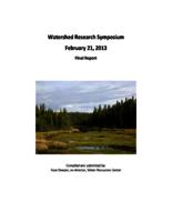 Watershed Research Symposium Final Report