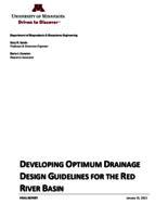Developing Optimum Drainage Design Guidelines For The Red River Basin: Final Report