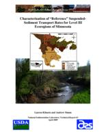 Characterization of Reference Suspended- Sediment Transport Rates for Level III Ecoregions of Minnesota""""