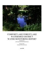 COMFORT LAKE FOREST LAKE WATERSHED DISTRICT WATER MONITORING REPORT 2004