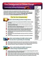 Core Competencies on Climate Change for Community Outreach Professionals
