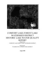 COMFORT LAKE FOREST LAKE WATERSHED DISTRICT WATER MONITORING REPORT 2002