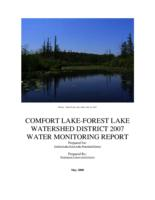 COMFORT LAKE-FOREST LAKE WATERSHED DISTRICT 2007 WATER MONITORING REPORT