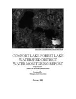 COMFORT LAKE FOREST LAKE WATERSHED DISTRICT WATER MONITORING REPORT 2003